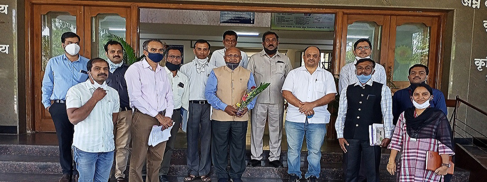 Hon.Dr.Ashok Dhawan I/c VC of MPKV,Rahuri visited to Agriculture and Agri . Allied Colleges on 21/01/2021